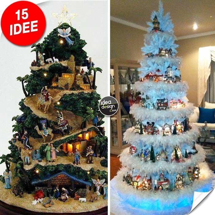 Foto Di Natale Albero.Un Villaggio Nel Tuo Albero Di Natale 15 Esempi Bellissimi