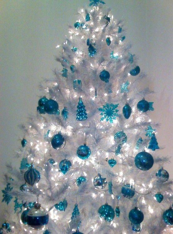 Tabletop christmas tree decorating ideas - Natale In Colore Turchese 20 Idee Da Cui Trarre