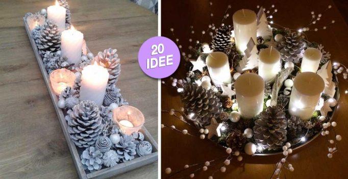 Bellissimi centrotavola natalizi fai da te 20 idee video tutorial - Portacandele natalizi fai da te ...