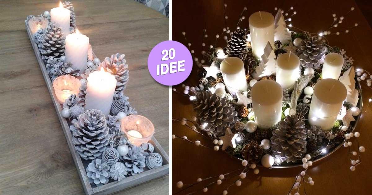 Bellissimi centrotavola natalizi fai da te 20 idee - Addobbi natalizi da giardino ...