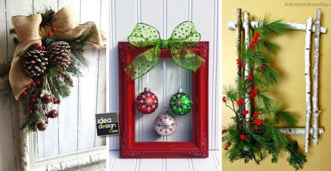 Un quadretto natalizio originale fai da te 20 idee a cui for Stili di porta d ingresso per case di ranch