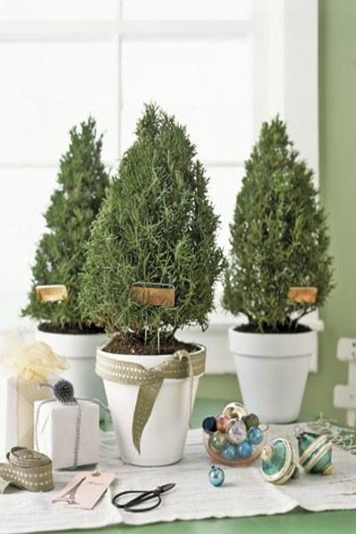 vasi terracotta decorazioni fai da te : vasi-terracotta-natalizi-20