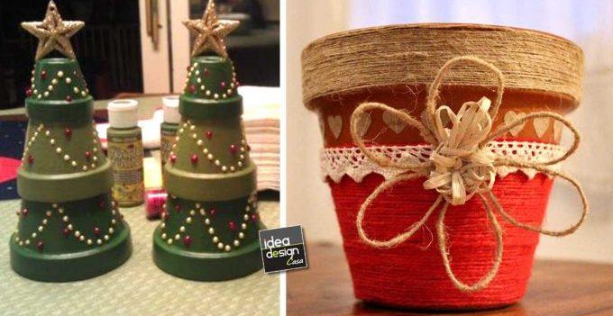 Vasi di terracotta decorati per natale 20 idee tutorial - Vasi decorati fai da te ...