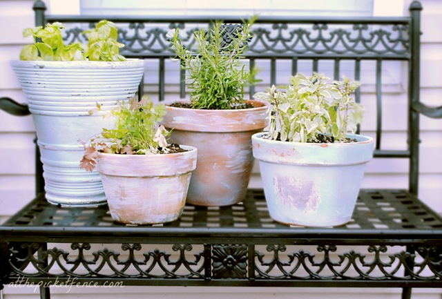 shabby chic plant shelves clay pots shabby chic diy 20 ideas tutorial ideadesigncasa