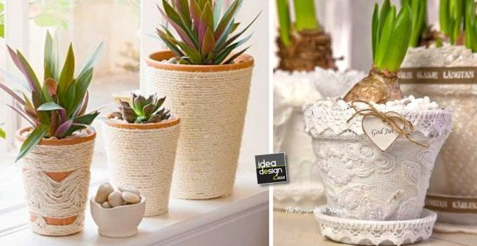 Shabby Chic Fai Da Te : Clay pots shabby chic diy ideas tutorial ideadesigncasa