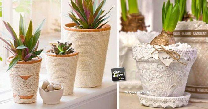 Bagno Shabby Chic Fai Da Te : Vasi di terracotta shabby chic fai da te! 20 idee tutorial
