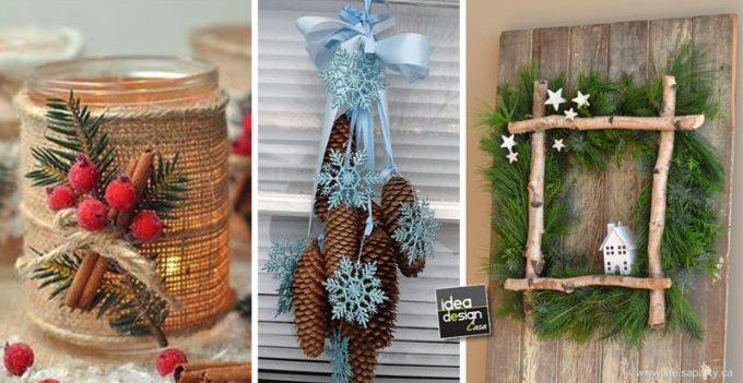 Decorazioni natalizie originali ecco 20 idee - Decorazioni natalizie legno fai da te ...