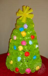 decorazioni natalizi con bicchieri di plastica o carta 20 idee tutorial. Black Bedroom Furniture Sets. Home Design Ideas