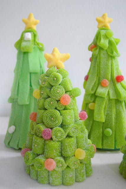 decorazioni natalizie con caramelle