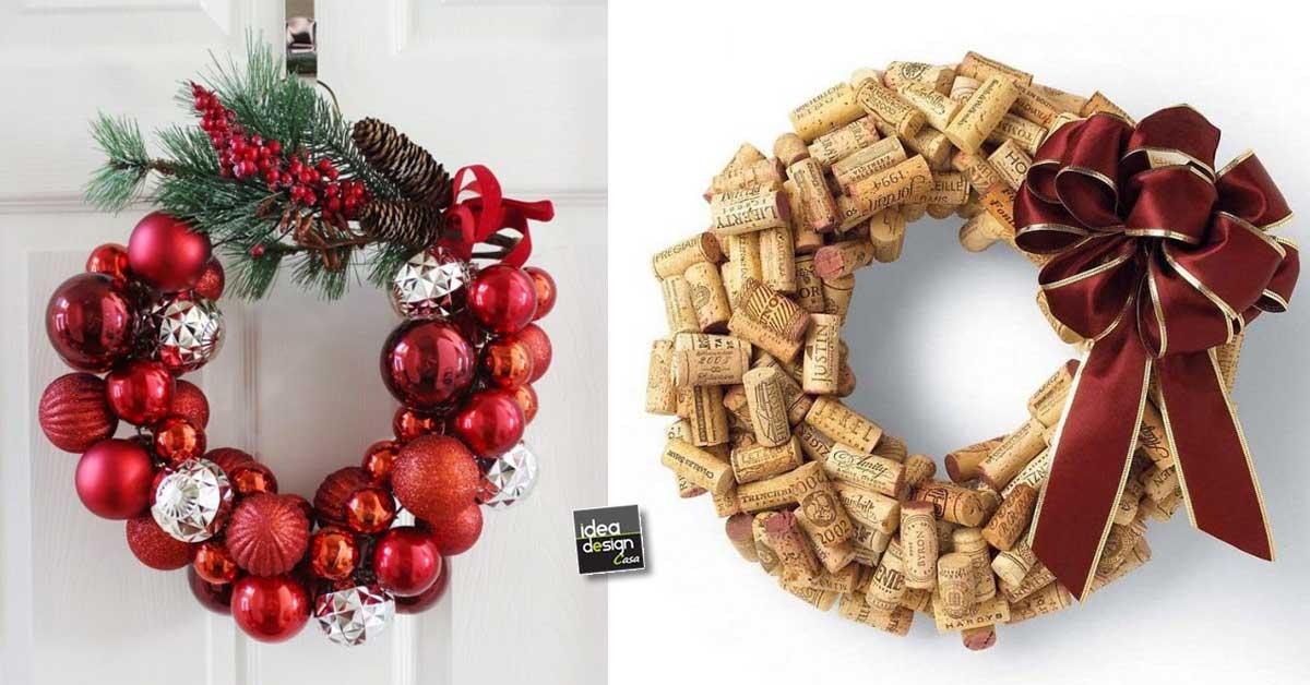 Ghirlande di natale fai da te 20 idee creative tutorial for Natale 2016 addobbi fai da te