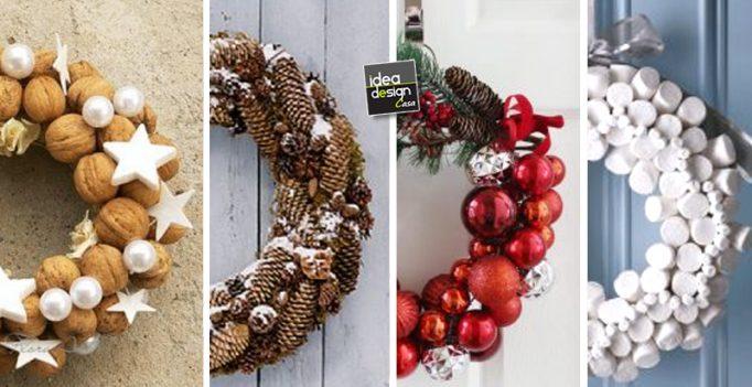 Ghirlande di natale fai da te 20 idee creative tutorial - Idee per decorazioni natalizie per la casa ...