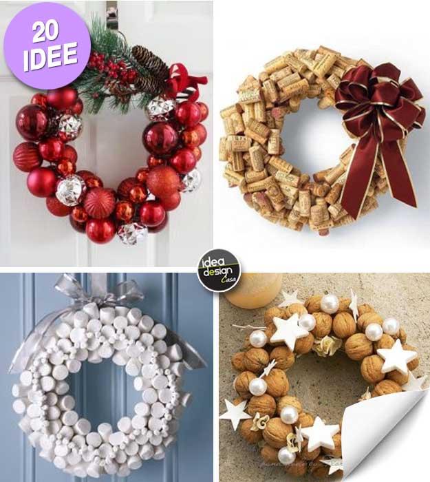 Eccezionale Ghirlande di Natale Fai da te! 20 idee creative + Tutorial! IB74