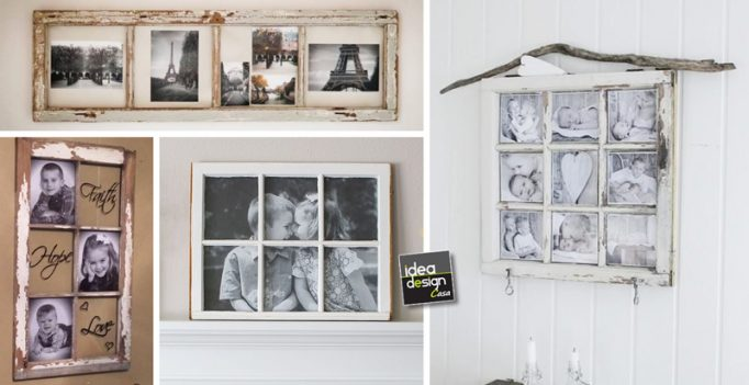 Riciclo creativo e fai da te for Portafoto parete