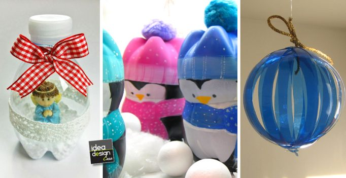 Creazioni natalizie con bottiglie di plastica 20 idee - Bricolage pot a crayon facile ...
