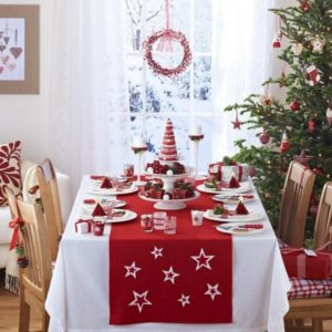 Red and White Christmas table decorations! 20 ideas ...