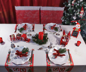 Decorazioni tavola di natale in rosso e bianco 20 idee - Idee addobbo tavola natale ...