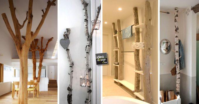 Decorazioni con alberi e tronchi ecco esempi bellissimi per la