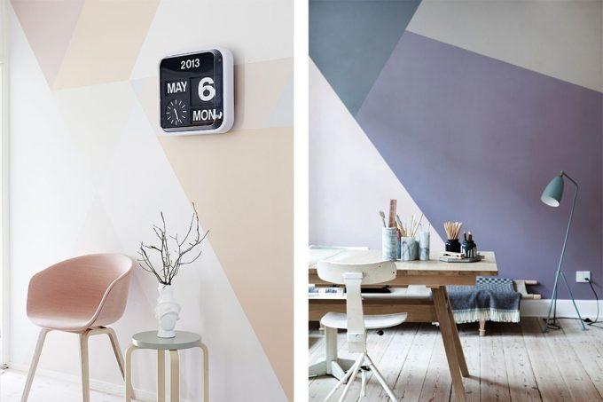 Dipingere le pareti di casa in modo creativo 20 idee design - Idee per tinteggiare casa ...