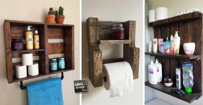 Arredare il bagno riciclando i pallet 20 idee per for Idee arredamento soggiorno fai da te