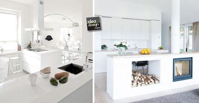 Cucina bianca 20 esempi da cui trarre ispirazione - Lunghezza cucina ...