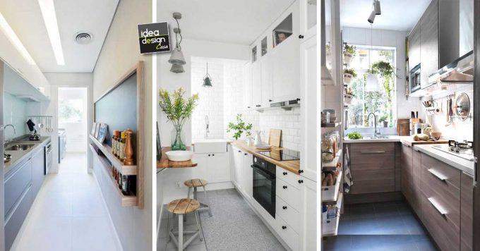 Arredare una cucina stretta e lunga ecco 20 esempi a - Aiuto per arredare casa ...