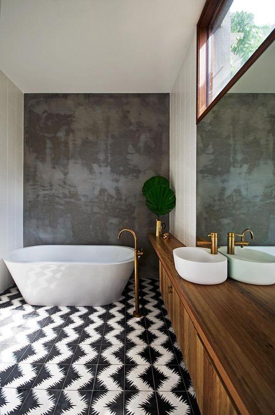 Mettere in risalto la vasca da bagno! Ecco 20 idee decorative ...