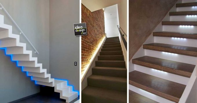 Illuminare le scale con le luci a led ecco idee design per