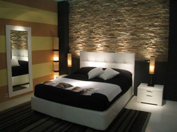 Decorare una parete con le pietre in camera da letto 20 idee per ispirarvi - Camera da letto idee originali ...
