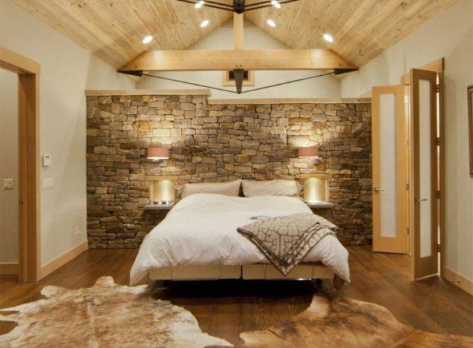 decorare una parete con le pietre in camera da letto 20 idee per ispirarvi. Black Bedroom Furniture Sets. Home Design Ideas
