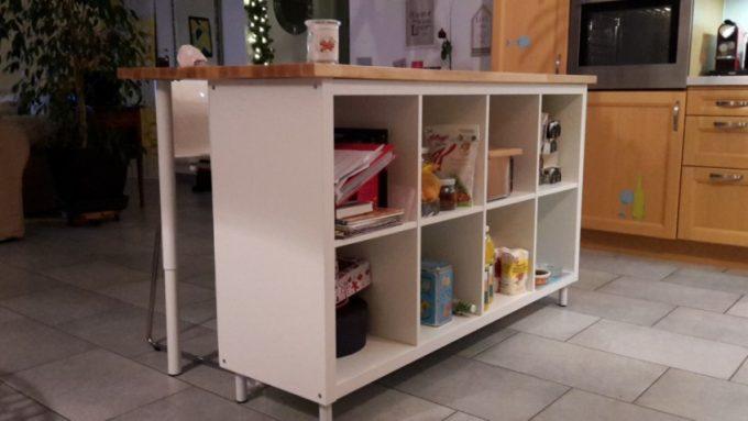 idee scaffali IKEA isola cucina 1 - IdeaDesignCasa
