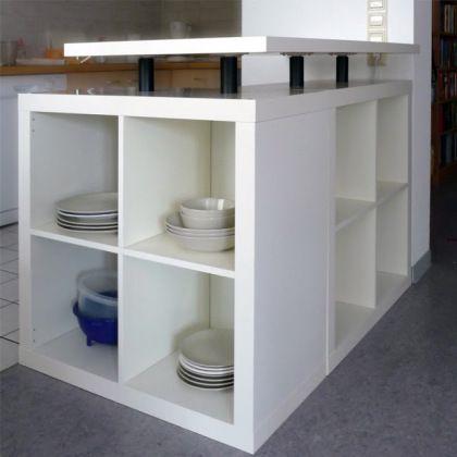 idee scaffali IKEA isola cucina 2