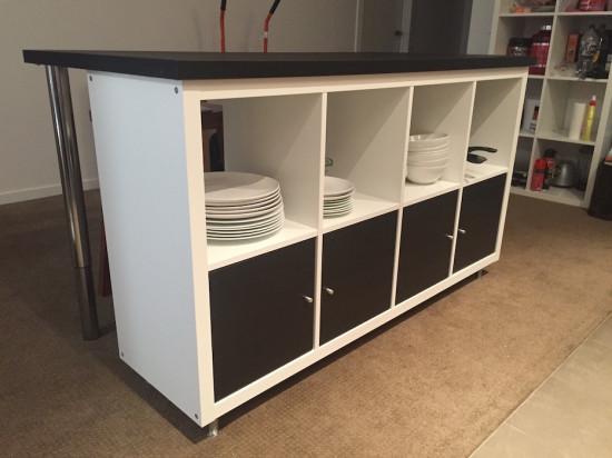 idee scaffali IKEA isola cucina 4
