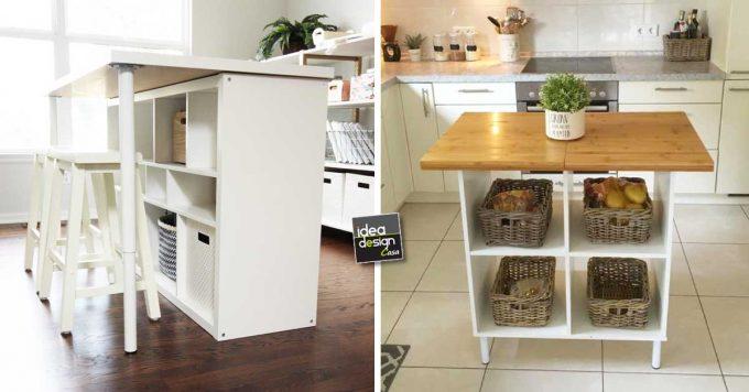 Trasformare uno scaffale ikea in un isola per la cucina for Scaffali per ufficio ikea
