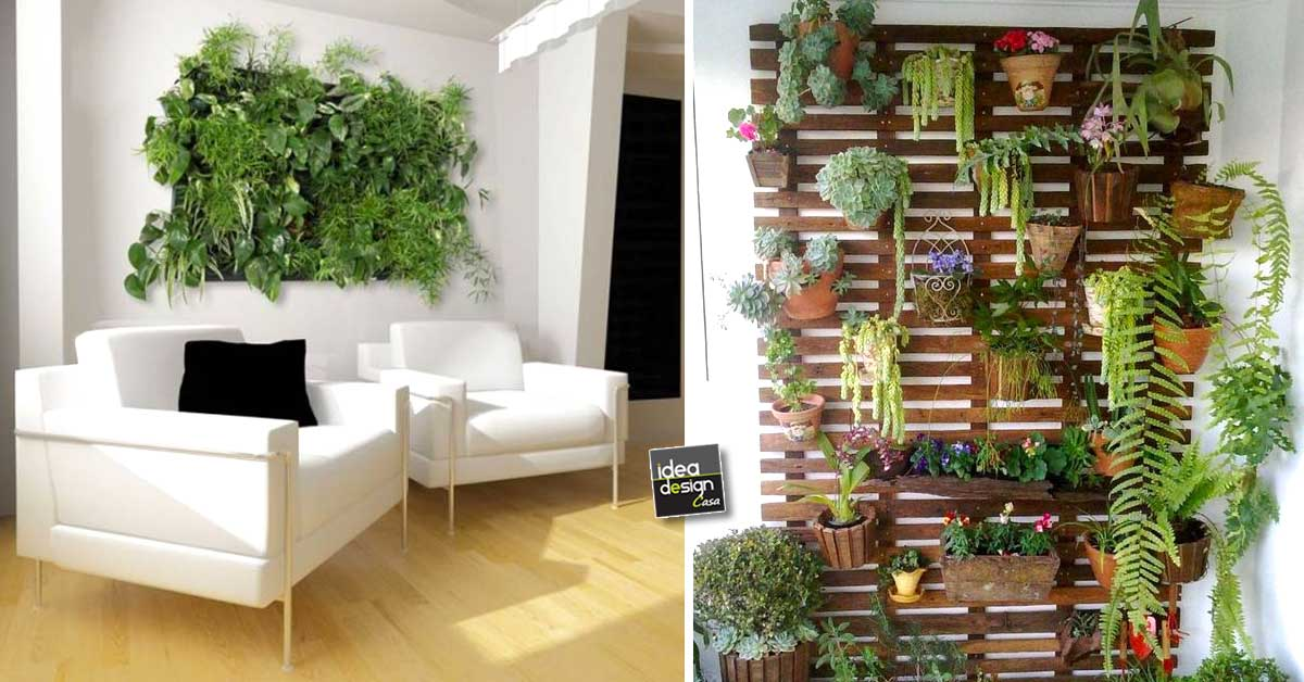 Creare una parete vegetale per decorare casa 20 idee per ispirarvi video - Idee per decorare una parete ...