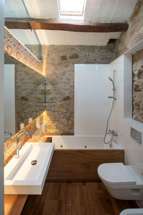 Bagno Design Ecologico In Pietra : Rivestimenti in pietra nel bagno esempi bellissimi a