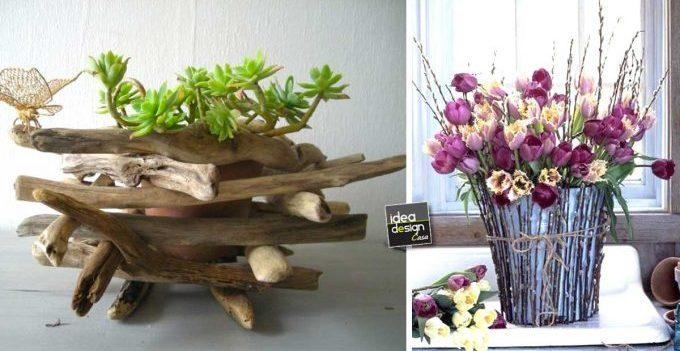 Cachepot fai da te con dei legnetti 20 idee stupende per ispirarvi - Casa in legno fai da te ...