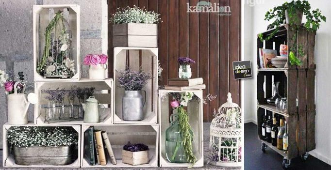 Cassette in legno per decorare casa 20 idee lasciatevi - Arredare casa in modo economico ...