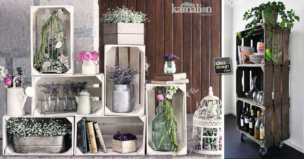 cassette in legno per decorare casa 20 idee lasciatevi