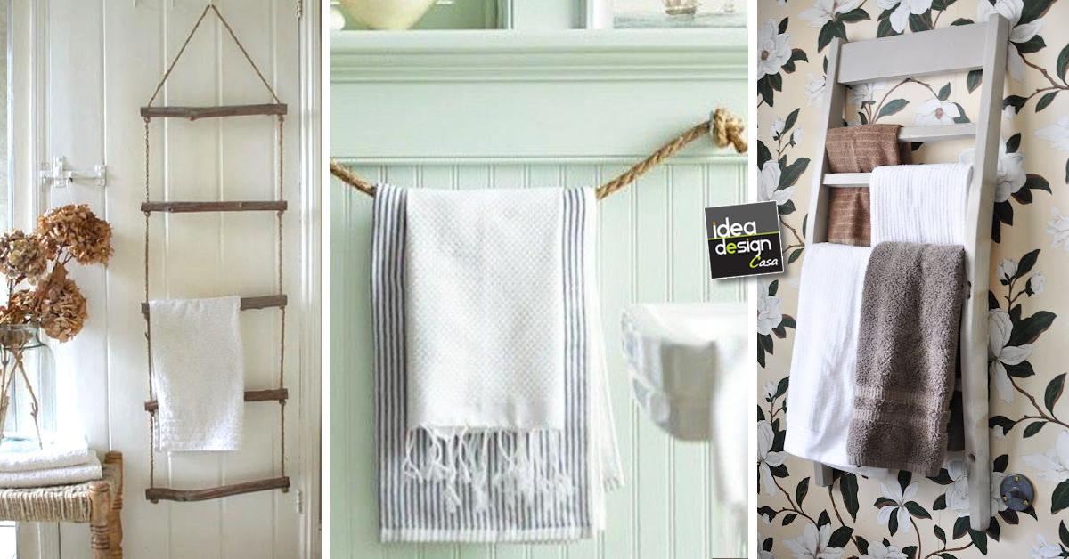 Porta Asciugamani Da Bagno In Legno : Un porta asciugamani fai da te con materiali di riciclo idee