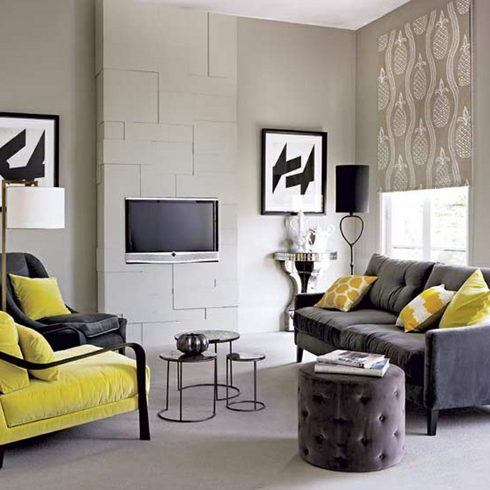 Combine Yellow And Black In The Lounge