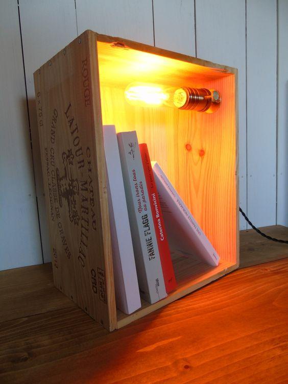 Lampade creative con cassette di legno 17 idee for Premiato design di casette
