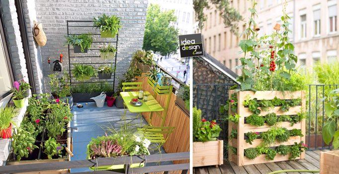 Organizzare un orto sul balcone ecco 20 idee da cui trarre ispirazione - Creare un giardino sul balcone ...