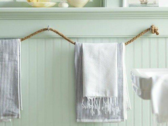 un porta asciugamani fai da te con materiali di riciclo 20 idee per ispirarvi. Black Bedroom Furniture Sets. Home Design Ideas