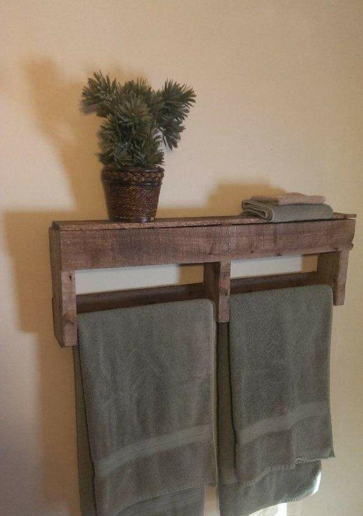 Un porta asciugamani fai da te con materiali di riciclo - Costruire mobile bagno fai da te ...