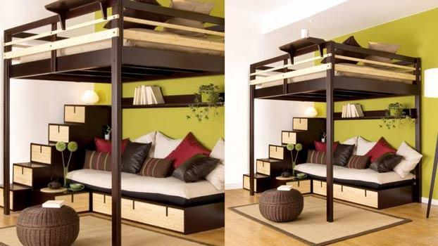 Come arredare con un letto a soppalco 20 idee per ispirarvi - Letto matrimoniale a soppalco ikea ...