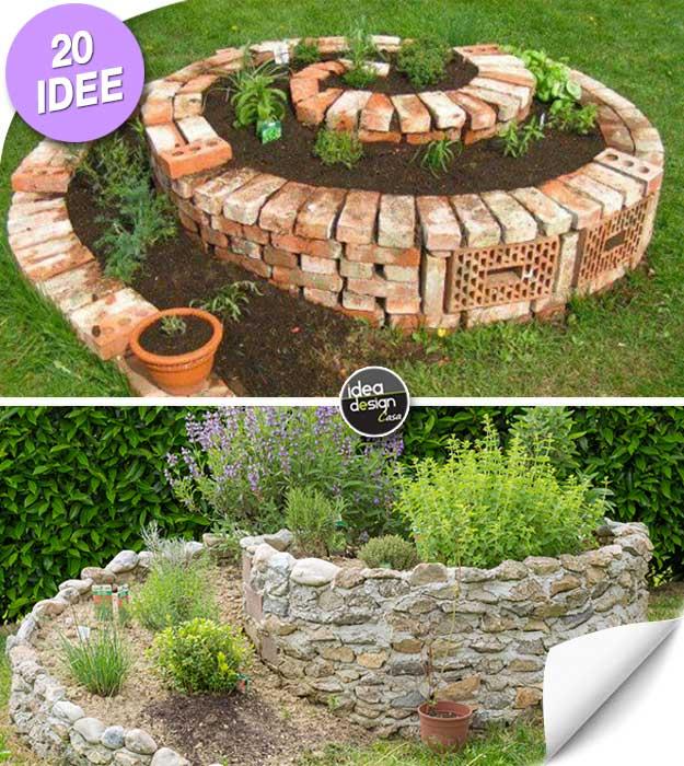 Realizzare un aiuola originale a forma di spirale 20 idee for Decorazioni giardino aiuole
