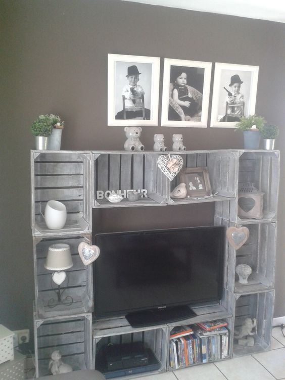 le cassette di legno per arredare casa 20 idee creative. Black Bedroom Furniture Sets. Home Design Ideas