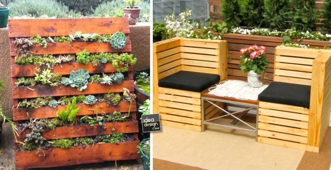Pallet per arredare il giardino 20 idee lasciatevi for Bancali legno per arredare