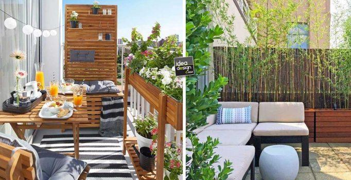 Privacy sul balcone! Ecco 20 idee... Lasciatevi ispirare!