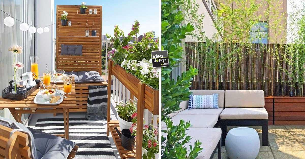 Privacy sul balcone ecco 20 idee lasciatevi ispirare for Arredare il balcone